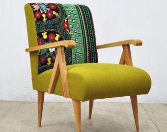 Wooden Armchair -  green love
