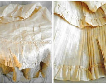 Victorian Silk Petticoat As Is Shattered but with Salvageable Ruffles