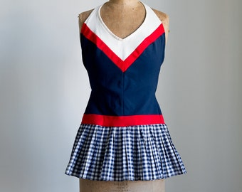 1950s Nautical swimsuit with skirt