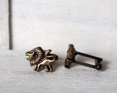 Lion Cufflinks Men's Cufflinks Vintage Inspired Leo Cufflinks Gothic Victorian Safari Game of Thrones Inspired