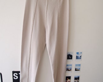Vintage High Waisted Ribbed Stretch Leggings