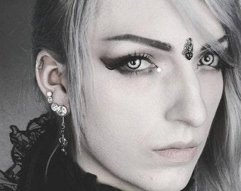 Swarovski Crystal Bindi Jewelry - Goth Accessories - Tribal Fusion Bellydance Jewelry