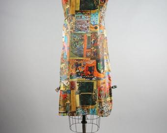daily deal | wild child | vintage 60s play dress | day dress | vtg 1960s shift | medium/large