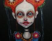 painting, contemporary,  girl, original, art