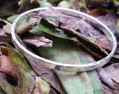 Sterling Silver Hammered Bangle Bracelet