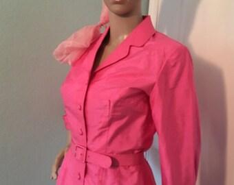 Showstopper Pink Shirt Dress—All Silk