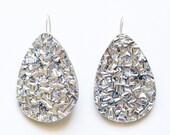 Large Silver Lush Drops - Laser Cut Drop Earrings - Each To Own
