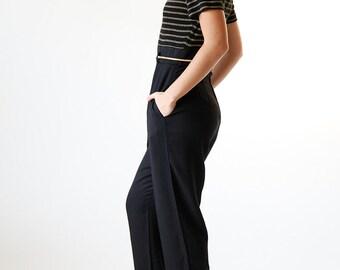 Vintage 90s Black and Gold Jumpsuit Pants Onesie - Red 3 #68