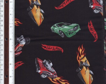 """Hot Wheels Toy Cars - 34-1/2"""" - 100% Cotton Fabric"""