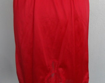 Red Half Slip Vintage Size Medium Enhance by Bestform Slip Skirt