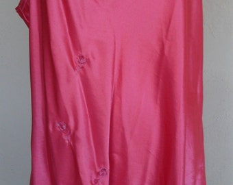 Vintage Chemise Nightgown Pink Satin Size 1X by Inner Most Woman