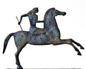 Greek Sculpture Horse & Jockey, Metal Art Sculpture, Ancient Greece, Museum Replica, Horse Art Statue, Equine Decor, Greek Art, Art Decor