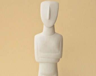 Marble Sculpture, Abstract Marble Statue, Greek Cycladic Figurine Geometric Art, Museum Replica, Ancient Greece, Home Decor, Made in Greece
