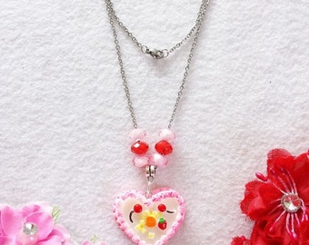 Heart Cake Necklace