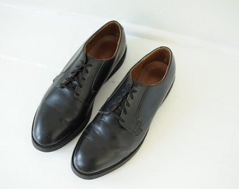 Vintage Red Wing Union Made USPS Postal Black Leather Oxford Shoes, Mens 11 / ITEM163