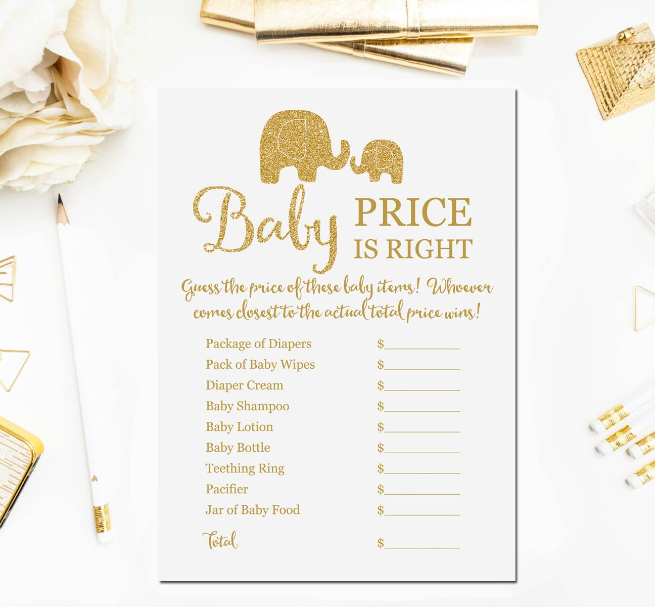 baby price is right printable game baby shower game