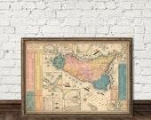 Sicily map - Old map restored - Vecchia mappa della Sicilia