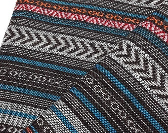 Thai Woven Cotton Fabric Tribal Fabric Native Fabric by the yard Ethnic fabric Aztec fabric Craft Supplies Woven Textile 1/2 yard (WF121)