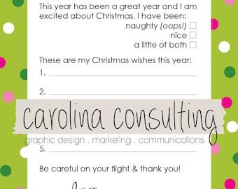 Adorable Letter for Santa!