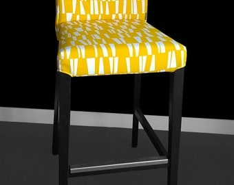 IKEA HENRIKSDAL Bar Stool Chair Cover - Sticks Yellow