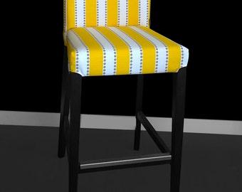IKEA HENRIKSDAL Bar Stool Chair Cover - Lulu Stripe Yellow