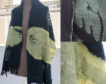 90's Handwoven Handdyed Cotton Shawl Wrap