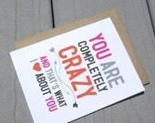 Crazy Love, Valentine Card