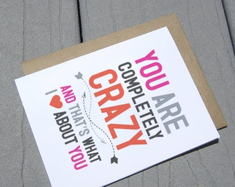 You're Crazy Love Card