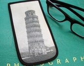 Eyeglass Case with Vintage Photo: Tower of Pisa, c. 1900