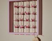 Hello Kitty Original Cranes In Frames by Nicole Waszak