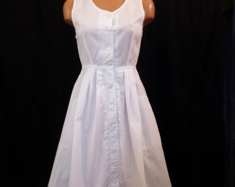 DOCTORS ORDERS nurse uniform dress - sporty sundress - full skirt - white XS