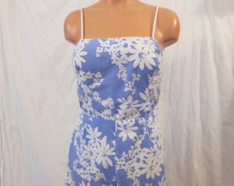 BEACH DAY vintage floral romper bathing suit Sea Waves sz 8 S M
