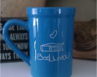 DISCOUNTED Teal Book Mug