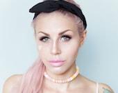 Black wire headband Dolly bow