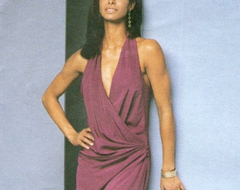 Mei Xiao Zhou for Guy Laroche bias halter wrap dress pattern -- Vogue Paris Original 2650