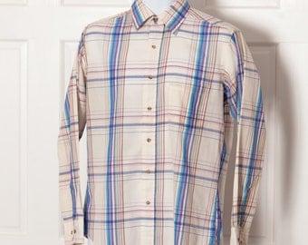 Vintage Men's 90s Button Down Shirt - Boulevard by BLOCK - M