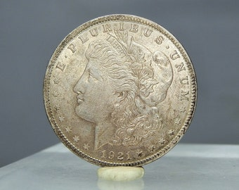 1921 Morgan Head Silver Dollar US Mint Coin 90% Silver As Pictured Ungraded Vintage US Currency
