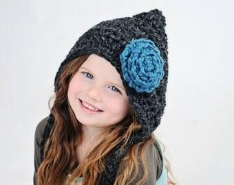 Children's Hat / Crochet Pixie Hat / Gnome Hat / Fall Fashion / Baby Hat / Christmas Hat