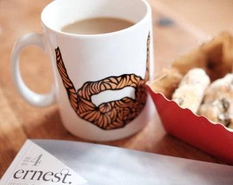 beard mug - fathers day mug - fathers day gift - funny mug - funny beard mug - boyfriend gift - available in 5 colours