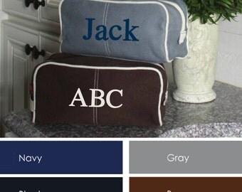 Personalized Toiletry Bag- Men's Toiletry Dopp Kit- Personalized Canvas Travel Kit-Personalized Men'sToiletry Bag-Monogrammed Travel Kit
