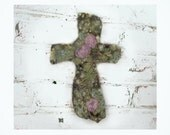 Wall Cross,  Home Decor Cross,  Ceramic Cross , wall art -pottery cross -  # 7