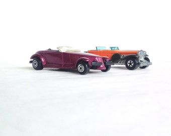 Two Vintage Toy Cars - Plymouth Prowler - '31 Doozie Hot Wheel - 1976 - Collectiblesf