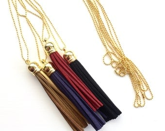 Tassel Necklaces Warm Colors