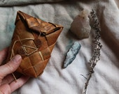 Vintage Handmade Birchbark mini box