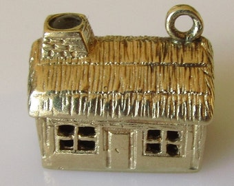 Gold Stanhope House Charm With Bless This House Prayer in Stanhope