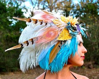 AIR ELEMENT Feather Headdress