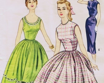 Vintage Sewing Pattern, Women's Dress Sewing Pattern, 50's Fashion, McCall's 3269