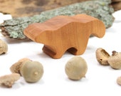Wooden Skunk Toy, Woodland Animal, Handmade Wood Toy, Forest Animal