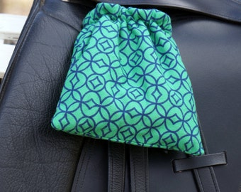 Ready to Ship - Navy and Green Diamonds Reversible Stirrup Covers