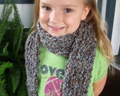 SALE!! Handmade Knit Scarf Blues and Browns Womens Girls neckwarmer winter accessory extra long scarf